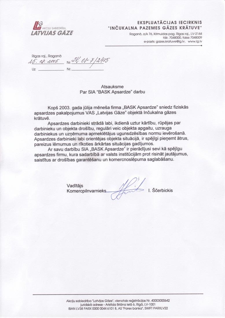 Bask Apsardze atsauksme